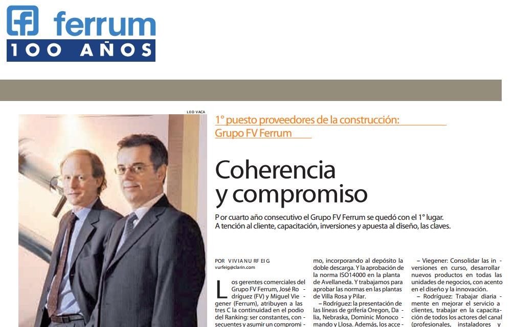 Ferrum 1er Puesto 2011