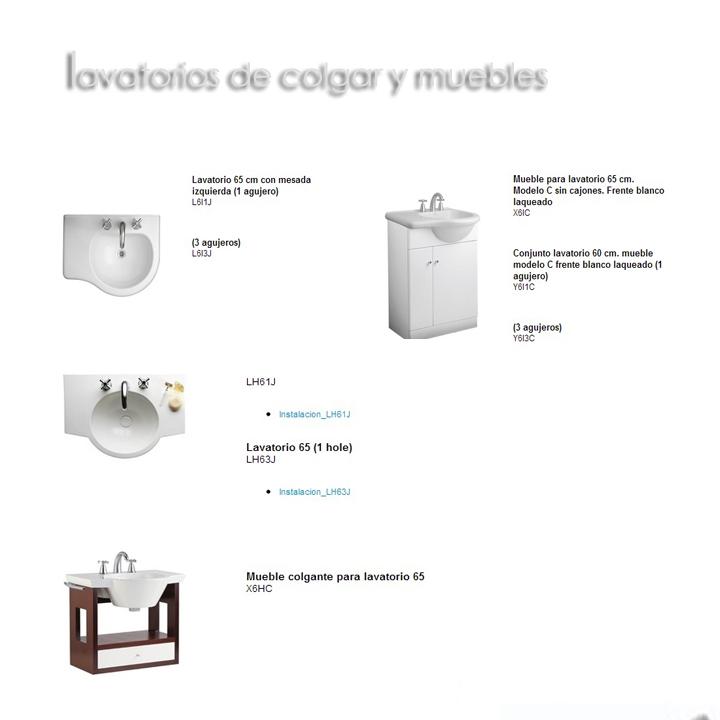 Lavatorios de Colgar